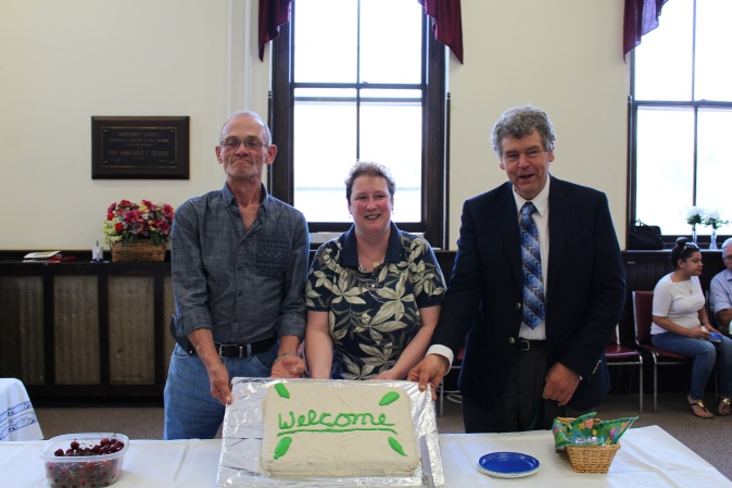 new members with cake